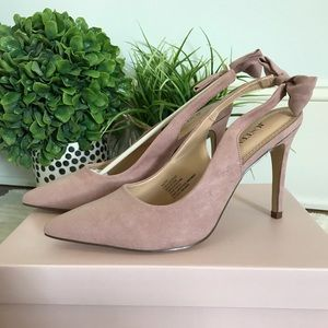 Just Fab Pink High Heels Pumps with Bows